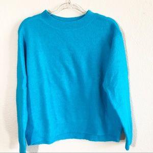 H&M aqua oversized sweater